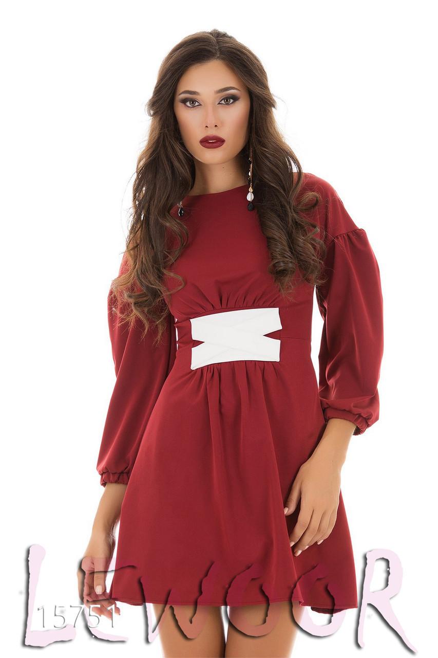 Платье из крепа с переплётами - LEWOOR.COM в Киеве
