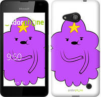"Чехол на Microsoft Lumia 550 Принцесса Пупырка. Adventure Time. Lumpy Space Princess v2 ""1221u-343-716"""