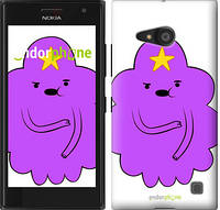 "Чехол на Nokia Lumia 730 Принцесса Пупырка. Adventure Time. Lumpy Space Princess v2 ""1221c-204-716"""