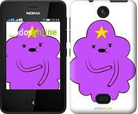 "Чехол на Nokia Asha 501 Принцесса Пупырка. Adventure Time. Lumpy Space Princess v2 ""1221u-209-716"""
