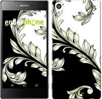 "Чехол на Sony Xperia Z5 Premium White and black 1 ""2805u-345-716"""