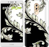 """Чехол на Huawei Honor 6X White and black 1 """"2805c-460-716"""""""