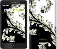 """Чехол на Nokia XL White and black 1 """"2805u-500-716"""""""