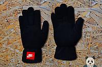 Молодежные черные перчатки найк ,Nike