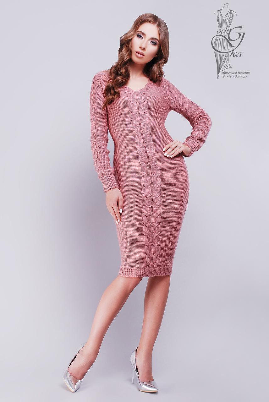 Женское облегающее платье приталенное вязаное Люся-4