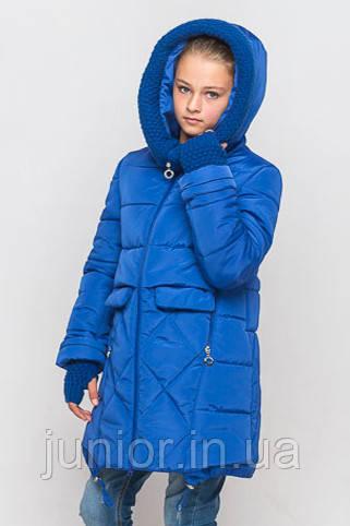 Зимнее модное куртка для девочки 146р