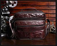 Мужская кожаная сумка. Модель 63279, фото 3