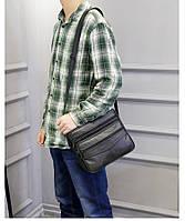 Мужская кожаная сумка. Модель 63279, фото 9
