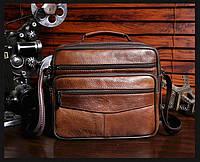 Мужская кожаная сумка. Модель 63279, фото 5