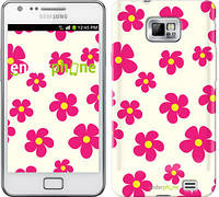 "Чехол на Samsung Galaxy S2 Plus i9105 Розовые цветки ""4018c-71-716"""