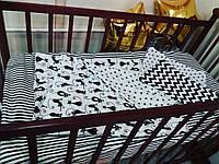 С узорами комплект постельного белья в кроватку, фото 1