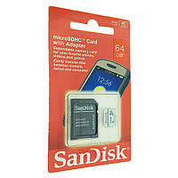 КАРТА ПАМЯТИ MICRO SD 64 GB CLASS 10 + ADAPTER