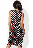 Деловое платье в горошек с принтом вишня, фото 2