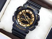 Наручные часы Casio Baby-G BA-110-1AER черные с золотым , фото 1
