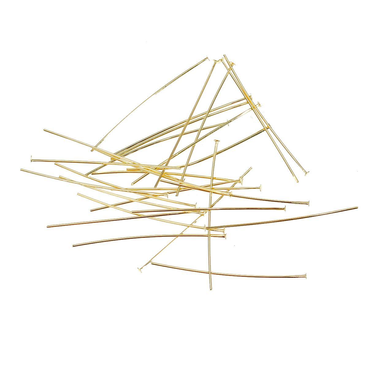 Пина / Штифт с шляпкой, Золото, 3 см длина, 0.5 мм