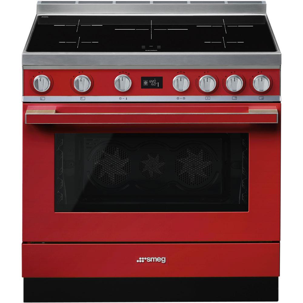 Отдельно стоящая варочная плита Smeg CPF9IPR красная