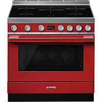 Отдельно стоящая варочная плита Smeg CPF9IPR красная, фото 1
