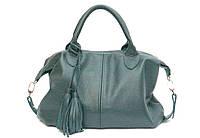 Женская кожаная сумка Зеленая 20ZF