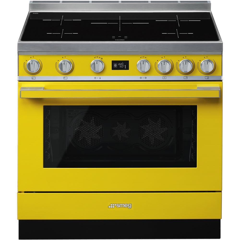Отдельно стоящая варочная плита Smeg CPF9IPYW желтая