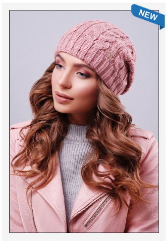 Современная модная шапка шанель