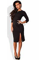 Платье миди приталенное черного цвета