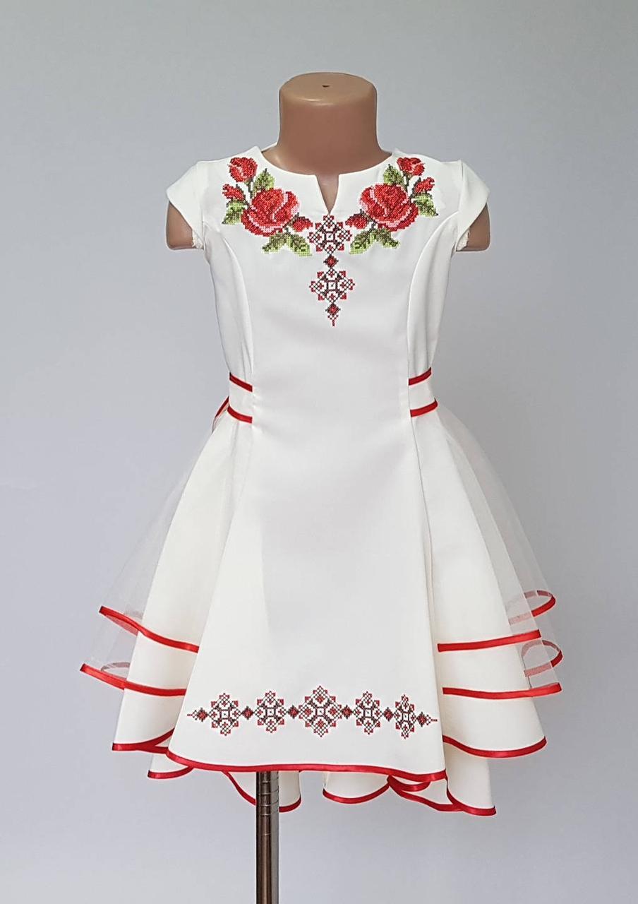 Платье с яркой вышивкой для девочек