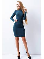 Платье ТЕПЛОТА,цвет акваморе. размер 42,44,46.скл 11
