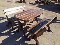 Комплект овальной мебели из массива деревянный 1400*625