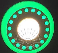 "LED панель Lemanso ""Точечки"" 3+3W с зелёной подсв. 350Lm 4500K / LM537"