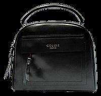 Женская сумочка CELINE из натуральной кожи черного цвета SАQ-020111