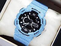 Наручные часы Casio baby-g BA-110DE-2A2ER голубые, под джинс, фото 1