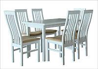 Стол обеденный СИД 120(+30) белый