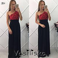 Красивое гипюровое вечернее платье ан-10685-1