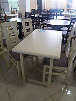 Стол обеденный СИД 120(+30) бежевый