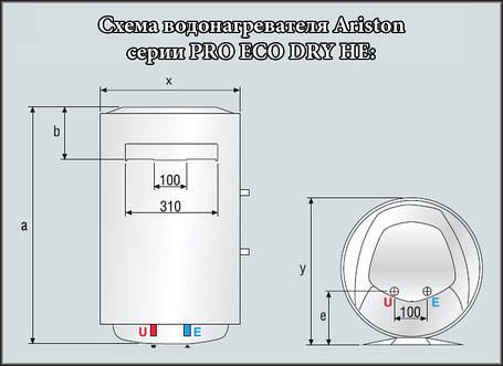 Ariston водонагрівач PRO ECO 80 V 1,8 K HE DRY, фото 2