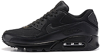 Мужские кроссовки Nike Air Max 90 Premium Triple Black (Найк Аир Макс 90) черные