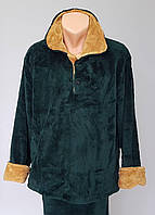 Мужская теплая махровая пижама большого размера