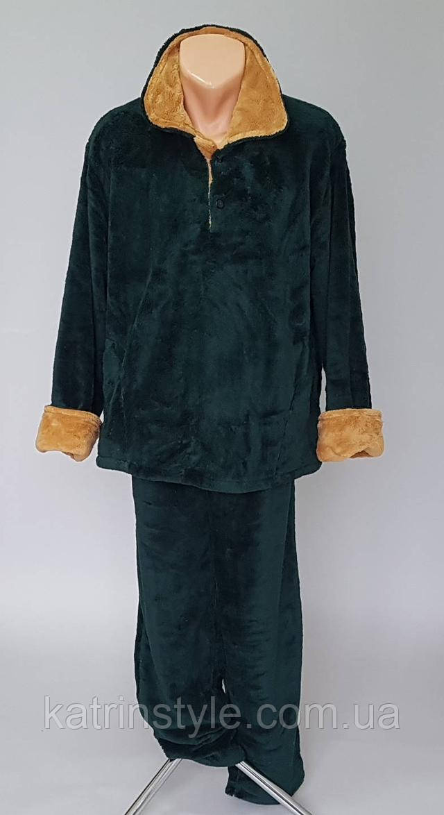 Мужская теплая махровая пижама большого размера   продажа c4a07b17f9a16