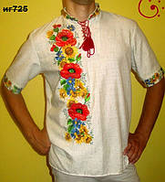 "Рубашка мужская вышитая ""Маки"""