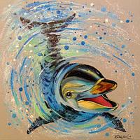 «Дельфин» картина маслом