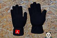 Зимние мужские перчатки Jordan / Джордан черные