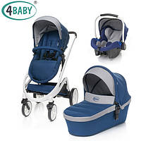 Коляска 3 в 1 4baby Cosmo Trio Navy Blue