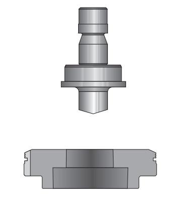 Плоский пуансон (10-40 мм) для тяжелых режимов работы (heavy duty).