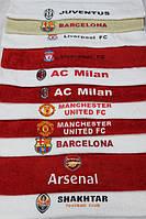 Полотенца банное махровое с футбольной символикой