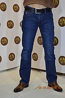 Джинсы  стрейч  мужские темно-синие  с потертостью Stefano Ricci