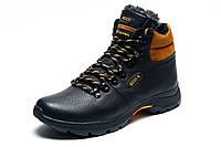 Зимние ботинки Biom мужские, на меху, черные с желтым, р. 40 41 42 43 44