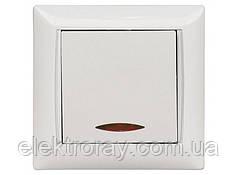 Выключатель с подсветкой Luxel Primera белый