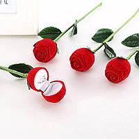 Роза коробочка для кольца! Коробка футляр для ювелирных изделий в форме розы! Шкатулка!