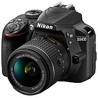 Nikon D3400 kit 18-55mm VR Black, фото 1