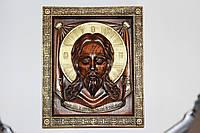 """Рельефная икона """"Спаситель"""" покрыта итальянским лаком, и патинированная золотом, фото 1"""
